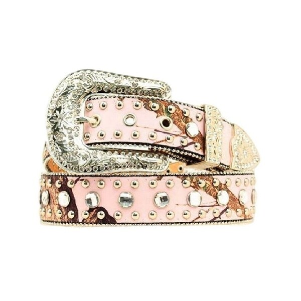 Blazin Roxx Western Belt Womens Crystals Bling Pink Camo