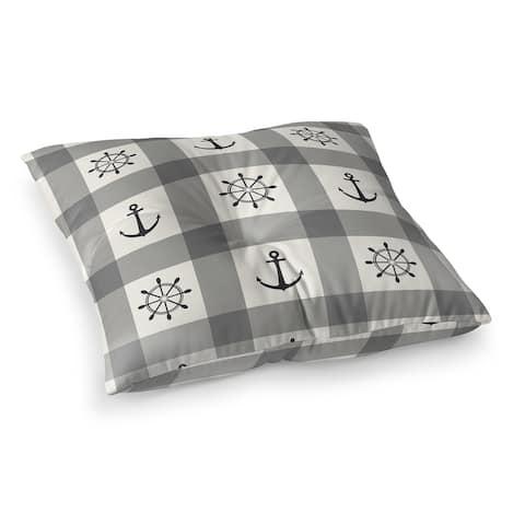 ANCHOR GALORE GREY Floor Pillow by Kavka Designs