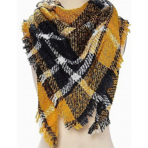 David & Young Black White Women's One Plaid Scarf $26