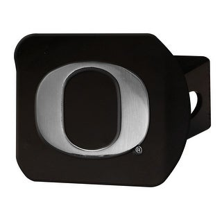 "University of Oregon Hitch Cover - Black - 3.4""x4"""