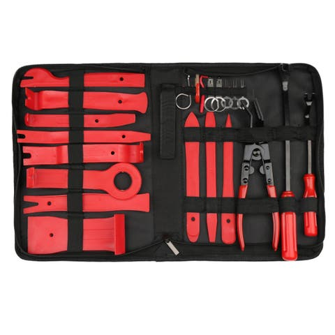 Car Trim Removal Tool Set Nylon Red Panel Dash Audio Radio Repair Kits 22 in 1