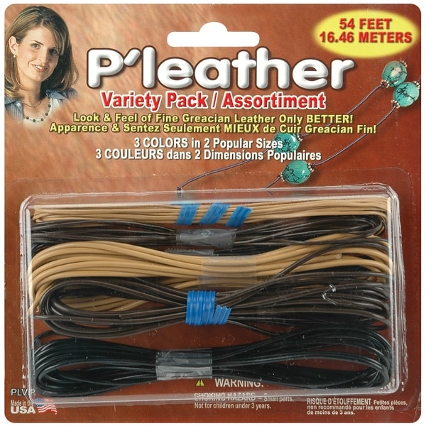P'leather Cord Pack 54'-Black, Brown & Beige