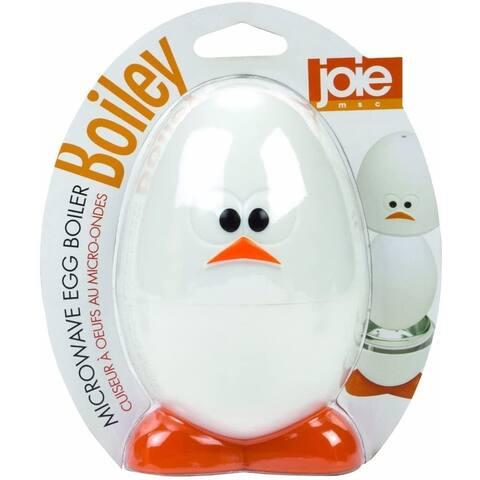 Joie Boiley Microwave Eggy Boiler Cooker - Make Soft Medium Hard Boiled Eggs Easily - White