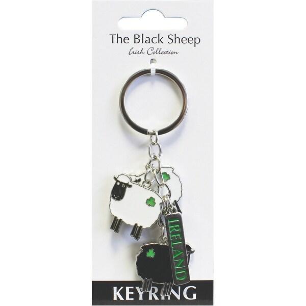 "The Black Sheep Charm Keyring 4""-"