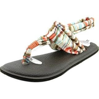 Sanuk Yoga Sling Open-Toe Canvas Slingback Sandal