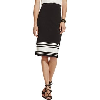 Vince Camuto Womens Pencil Skirt Striped Pull On