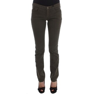 Costume National Costume National Green Cotton Blend Slim Fit Jeans - w26