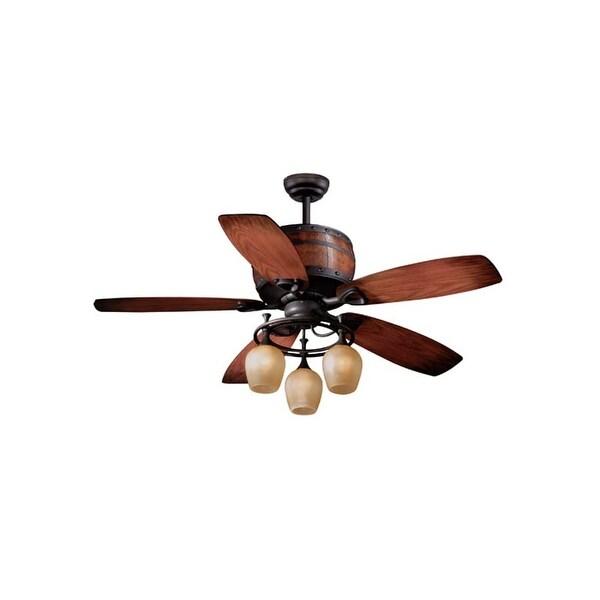 "Vaxcel Lighting FN52455 Cabernet 52"" 5 Blade Indoor Ceiling Fan - Light Kit and Fan Blades Included"
