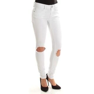 INDIGO REIN $49 Womens New 1461 White Frayed Skinny Casual Jeans 3 Juniors B+B