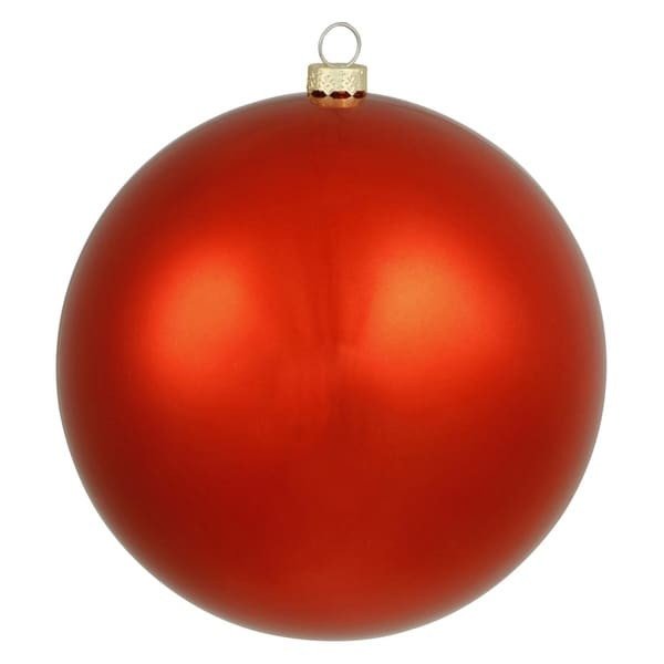 "Shiny Red UV Resistant Commercial Drilled Shatterproof Christmas Ball Ornament 15.75""(400mm)"