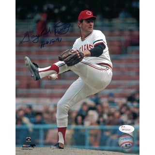 Gaylord Perry Autographed Cleveland Indians 8x10 Photo HOF JSA
