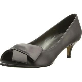 RSVP NEW Gray Women's Shoes Size 7M Udela Pump Open Toe Heels