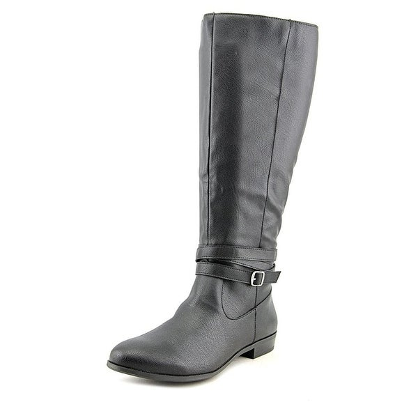 Style & Co. Womens Fridaa Almond Toe Mid-Calf Riding Boots Riding Boots