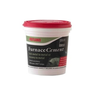 Rutland 64A Furnace Cement, 8 Oz, Black