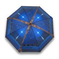 O Holy Night Nativity Print Bamboo Stick Umbrella