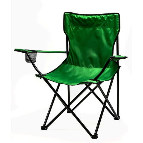 Ovente Foldable Camping Chair with Steel Frame, Green CHR001G