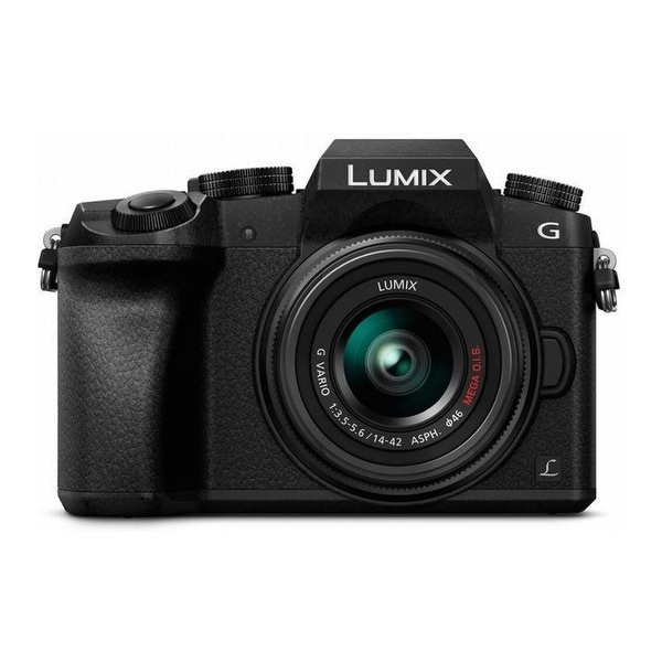 Panasonic LUMIX G7 Mirrorless Camera w/ 14-42mm f/3.5-5.6 Lens (Black). Opens flyout.