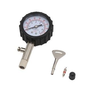 Black Silver Tone 0-100 PSI Car Vehicle Tire Tyre Air Pressure Tester Gauge