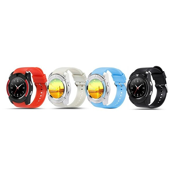 Shop TechComm V8 Smart Watch Fitness Tracker with Camera