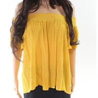 Soprano Mustard Womens Medium Off The Shoulder Blouse