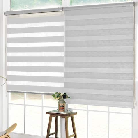 """Lauren Taylor - Day and Night Roller Blind 48"""" x 84"""" - White"""