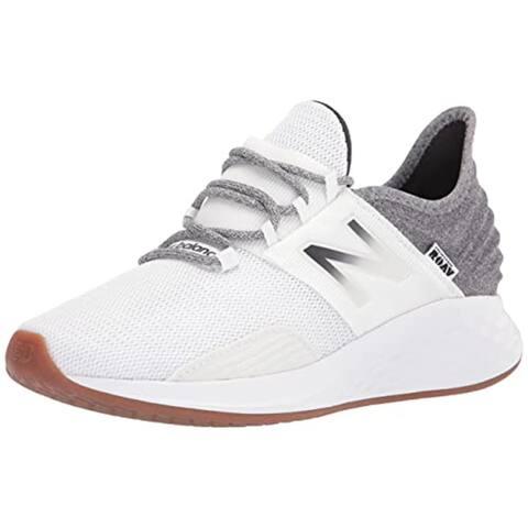 New Balance Women's Fresh Foam Roav V1 Running Shoe, Munsell White/Black