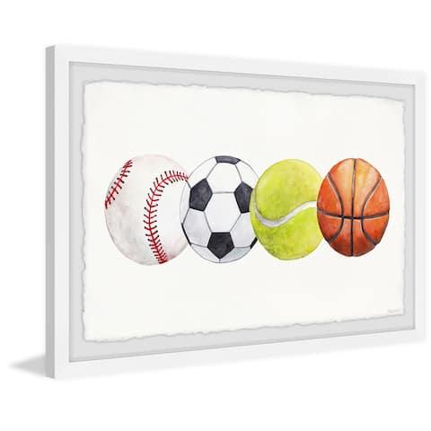 'Sports Balls' Framed Painting Print