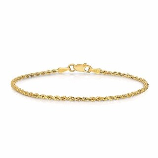 """Real 10k Yellow Gold 3MM Hollow Rope Bracelet Designer Mens Womens 9"""" Inch"""