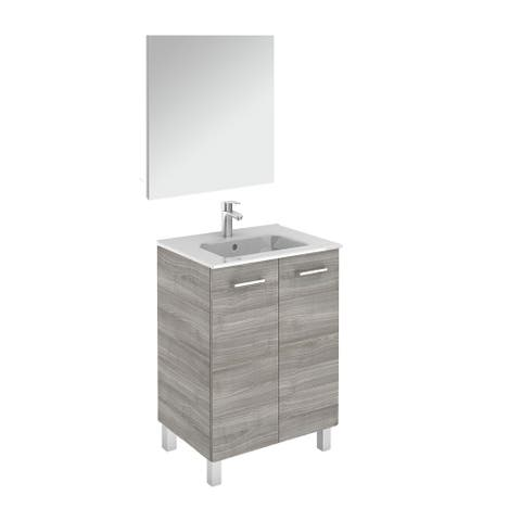 """WS Bath Collections Logic 60 Pack 1 Logic Vanities 18"""" Free Standing"""