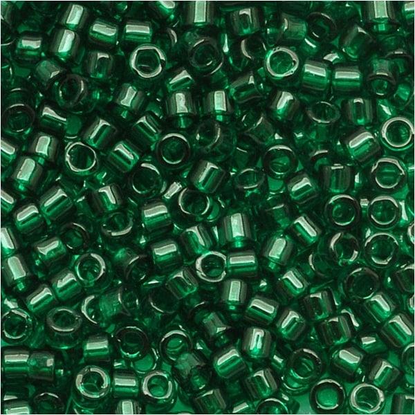 Miyuki Delica Seed Beads 11/0 Transparent Green DB713 7.2 GR