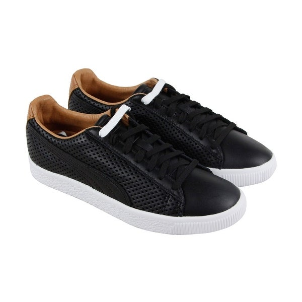 buy popular 2cdf7 03b6b Shop Puma Clyde Colorblock 2 Mens Black Leather Lace Up ...