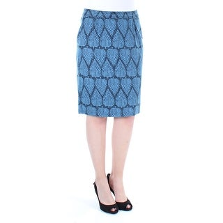 MAISON JULES $70 Womens New 1180 Blue Leafs Skirt 4 B+B