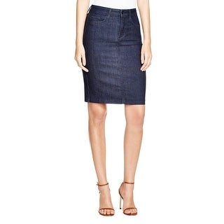 NYDJ Womens Dora Denim Skirt Dark Wash Pencil