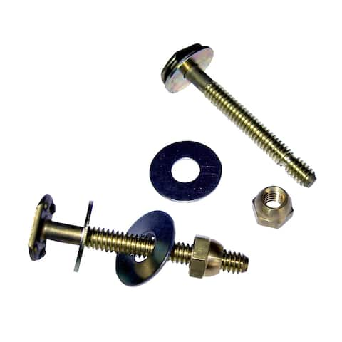 Hercules 90104 Johni-Bolts Solid Brass Closet Bolt, 1/4""