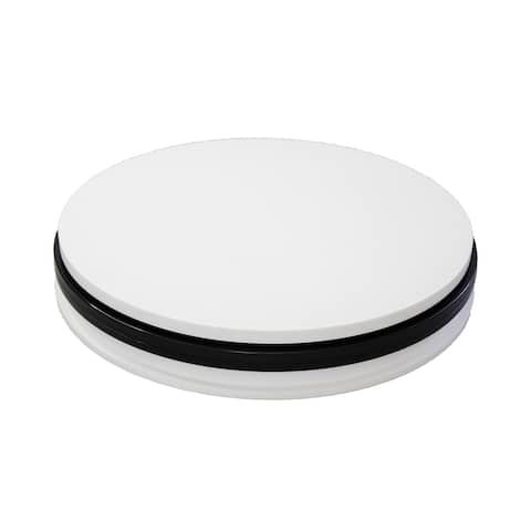 Office Accents Electric Motorized 360 Degree Rotating Turntable Display Stand with AC 110 V, US Plug Cord, 60S/R - White