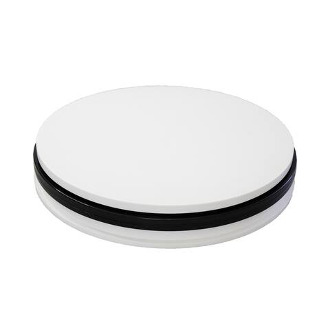 Trifecta Motorized 360 Degree Electric Rotating Turntable with AC 110 V, US Plug, 60S/R, 25 KG Capacity - White