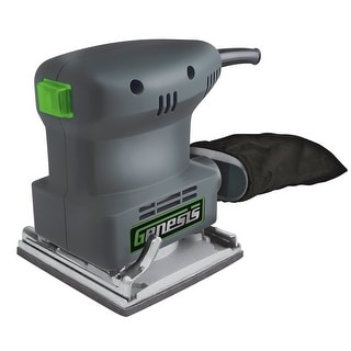 Genesis GPS2303 Dustless 1/4 Sheet Palm Sander, Gray, 1.3 Amp