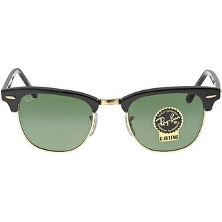 Ray-Ban RB3016 49mm Clubmaster Sunglasses (Black Frame/G-15 Lens)