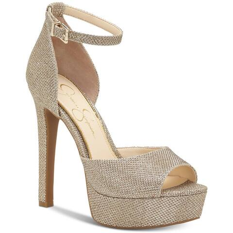 89ee5f457a Jessica Simpson Womens Beeya Peep Toe Special Occasion Platform Sandals