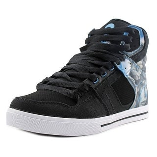 Osiris Clone Men Round Toe Leather Black Skate Shoe