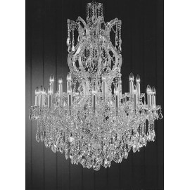 swarovski crystal trimmed maria theresa crystal chandelier lighting - Swarovski Crystal Chandelier