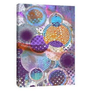 """PTM Images 9-109114  PTM Canvas Collection 10"""" x 8"""" - """"Patterned Circles 3"""" Giclee Abstract Art Print on Canvas"""