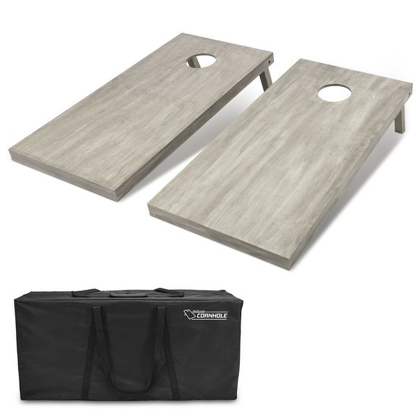 GoSports 4'x2' Gray Stained Regulation Size Wooden Cornhole Boards Set. Opens flyout.