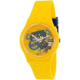 Swatch Men's Gent GJ136 Yellow Rubber Swiss Quartz Dress Watch