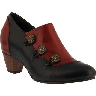 L'Artiste by Spring Step Women's Greentea Bootie Red Multi Leather