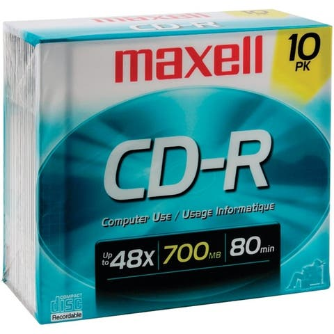 Maxell 622860/648210 700Mb 80-Minute Cd-Rs (10 Pk)