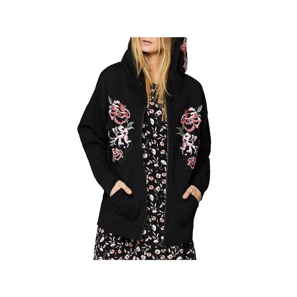 e97802292 Shop Sanctuary Womens Hoodie Embroidered Zip-Front - Free Shipping On  Orders Over $45 - Overstock - 24260752