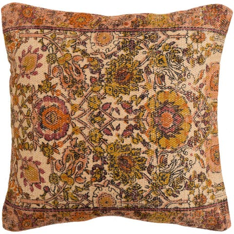 Decorative Lewes Multi-color 18-inch Throw Pillow Cover