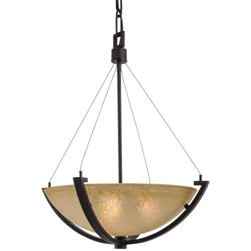 Minka Lavery ML 1182 3 Light Indoor Bowl Shaped Pendant from the Raiden Collection