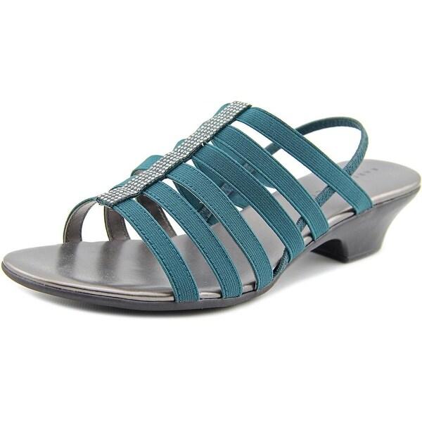 Karen Scott Estevee Women Stormy Teal Sandals